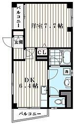 東京都品川区西大井2丁目の賃貸マンションの間取り