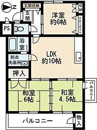 エメラルドマンション和白[102号室]の間取り