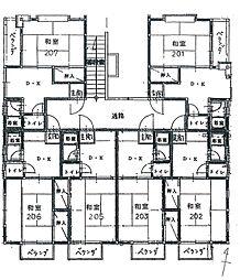 ピナクル飯倉[202号室]の間取り