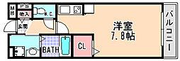兵庫県宝塚市中筋6丁目の賃貸マンションの間取り