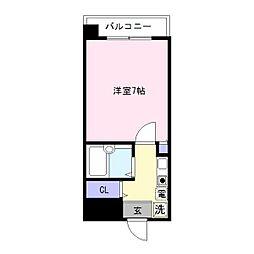 パンルネックス・クリスタル箱崎[803号室]の間取り