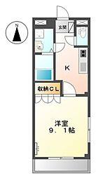 ソレイユII番館[1階]の間取り