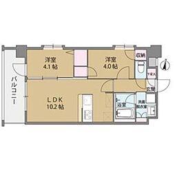 クリスタル&リゾートスカイプレミア[8階]の間取り