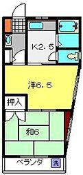 サトーハイツ[2階]の間取り