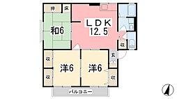 ドミール梅原[1階]の間取り
