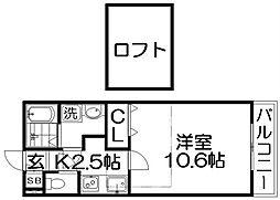 レジデンス ナンワ香里園[3階]の間取り