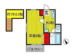 ミニフラット11[2階]の間取り
