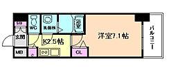 プレサンス大阪福島シエル[2階]の間取り