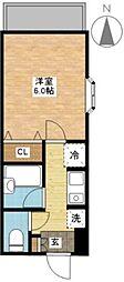 ブリアンジュールM&Y[4階]の間取り