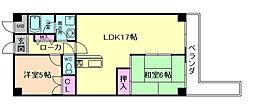 ソシアDII[5階]の間取り