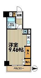 ペルソナージュ横浜[215号室]の間取り