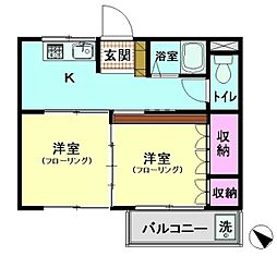 リーフコート東六郷[3階]の間取り