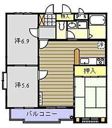 西いせやマンション[201号室]の間取り