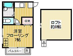 プリマベーラ松原[2階]の間取り