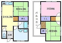 [一戸建] 大阪府羽曳野市島泉5丁目 の賃貸【/】の間取り