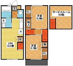 modern palazzo多良見I[1階]の間取り