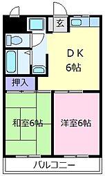 サンハイムモリ[2階]の間取り