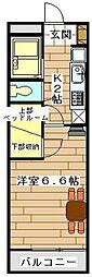 JR高崎線 宮原駅 徒歩9分の賃貸マンション 1階1Kの間取り