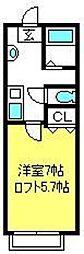 クレールメゾン大宮[102号室]の間取り