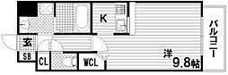 デコール神戸2[3階]の間取り
