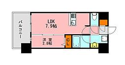 仮称)LANDIC K2620 7階1LDKの間取り