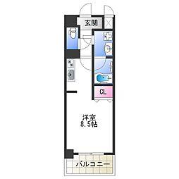 Osaka Metro千日前線 今里駅 徒歩5分の賃貸マンション 5階ワンルームの間取り
