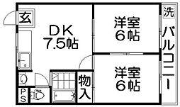 オスカー桜木[5階]の間取り