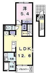 マーベラス 2階1LDKの間取り