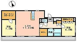 大阪府松原市別所5丁目の賃貸マンションの間取り