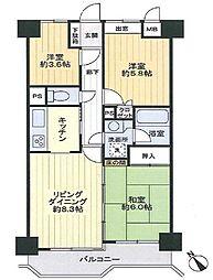 ライオンズマンション横浜港南ホワイトヒルズ[3階]の間取り