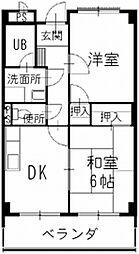 長野県松本市筑摩4丁目の賃貸マンションの間取り