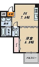 COURT HOUSE[4階]の間取り