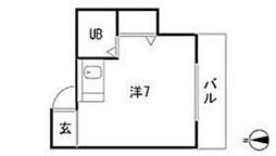 プチハイム[1階]の間取り