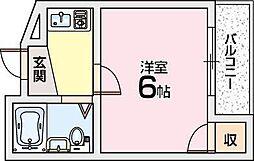 ハイコート枚方[3階]の間取り
