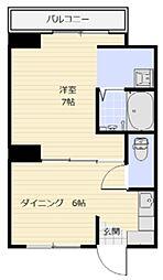 岡山県倉敷市児島唐琴4丁目の賃貸マンションの間取り