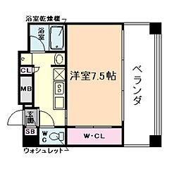 レジュールアッシュ梅田WEST[10階]の間取り