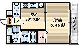 ロイヤルハイツ清鳳[5階]の間取り