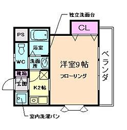 ドエル豊島[3階]の間取り