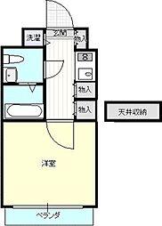 福岡県福岡市中央区那の川2丁目の賃貸マンションの間取り