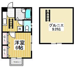 東京都杉並区堀ノ内1丁目の賃貸アパートの間取り