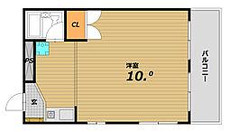 中山コーポラス[4階]の間取り