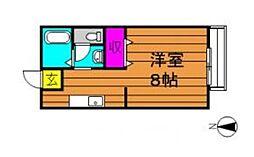 西之浦サンプラザ[203号室]の間取り