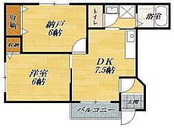滋賀県長浜市内保町の賃貸アパートの間取り