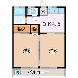 雨宮ハウス[2階]の間取り