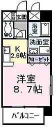 東京都福生市南田園2丁目の賃貸マンションの間取り