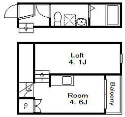 ARABESQUE[2階]の間取り