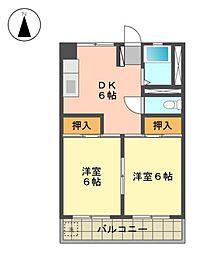 愛知県名古屋市名東区香南2丁目の賃貸マンションの間取り
