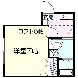 ソシア2[2階]の間取り