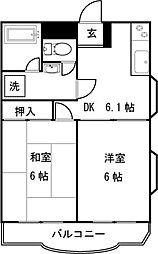 鷺沼コーポ[3階]の間取り