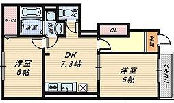 メゾンドパストラル[1階]の間取り